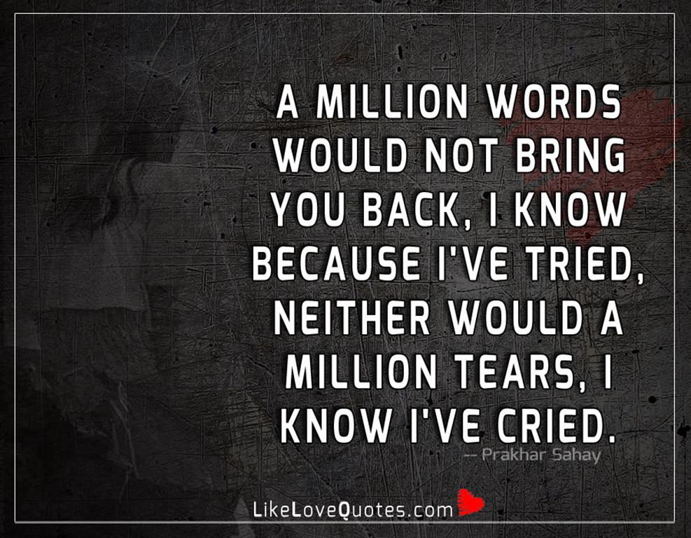 A Million Words Would Not Bring You Back-likelovequotes