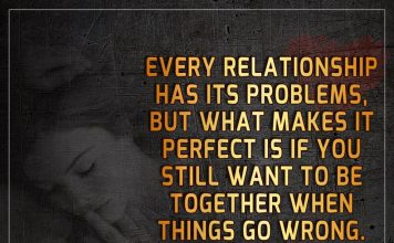 Be Together When Things Go Wrong -likelovequotes