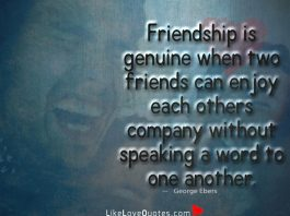 Friendship Is Genuine When Two Friends -likelovequotes