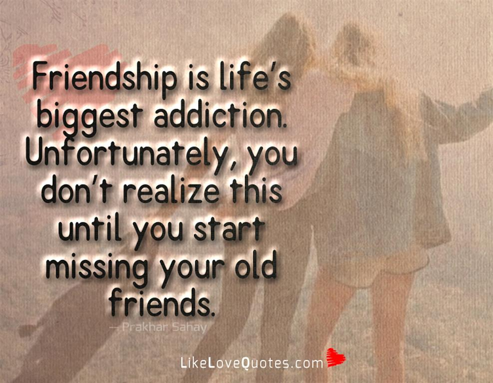 Friendship Is Life's Biggest Addiction -likelovequotes