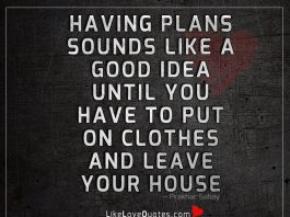 Having Plans Sounds Like A Good Idea -likelovequotes