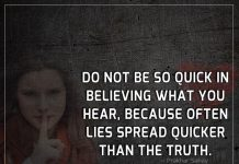 Lies Spread Quicker Than The Truth-likelovequotes