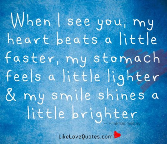 My Stomach Feels A Little Lighter -likelovequotes