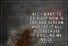 Scream And Let It All Out Because -likelovequotes
