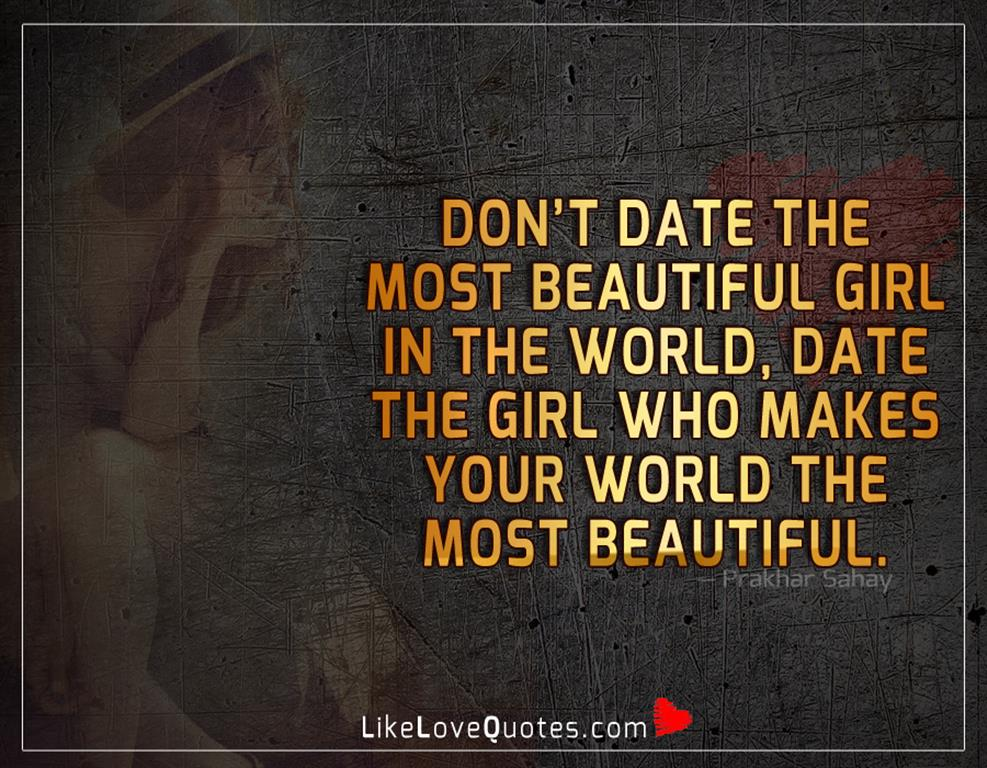 The Most Beautiful Girl In The World-likelovequotes