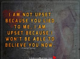 I Am Not Upset Because You Lied To Me-likelovequotes