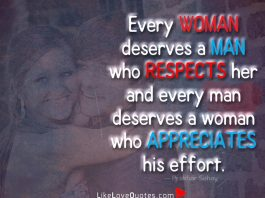 Woman Who Appreciates His Effort -likelovequotes
